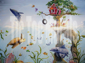 hire a muralists custom hand painted wall murals and photo murals on